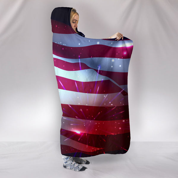 4th of July Hooded Blanket