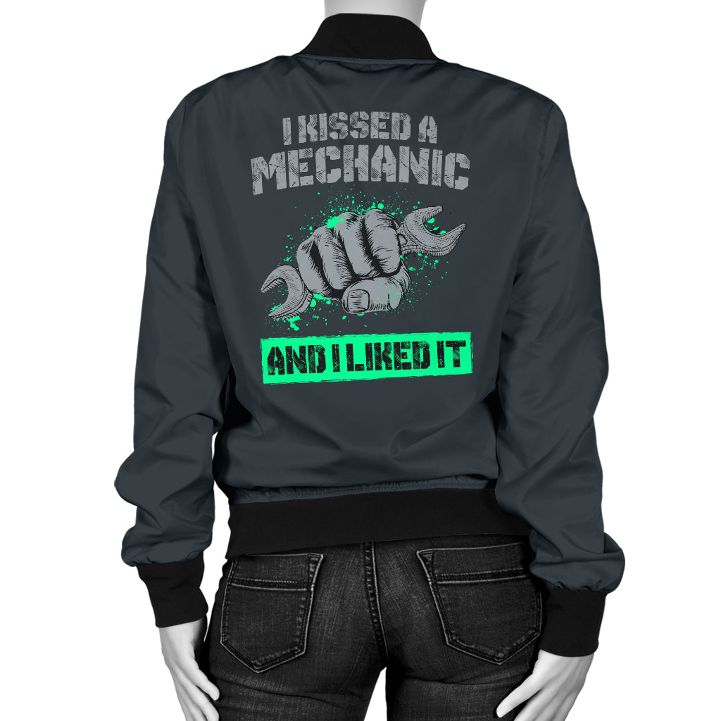 I Kissed A Mechanic Women's Bomber Jacket