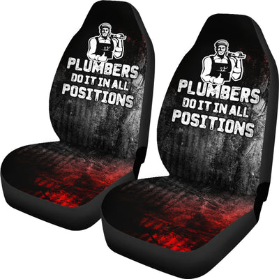 Plumber Positions Car Seat Covers (set of 2)