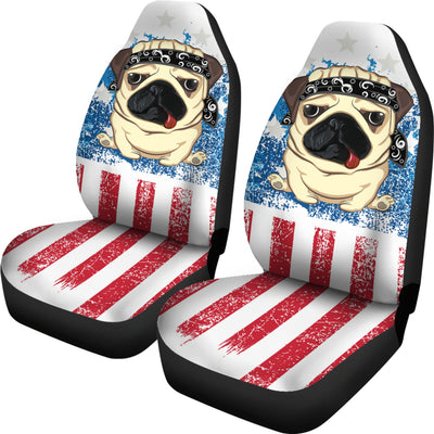 American Pug Car Seat Covers (set of 2)