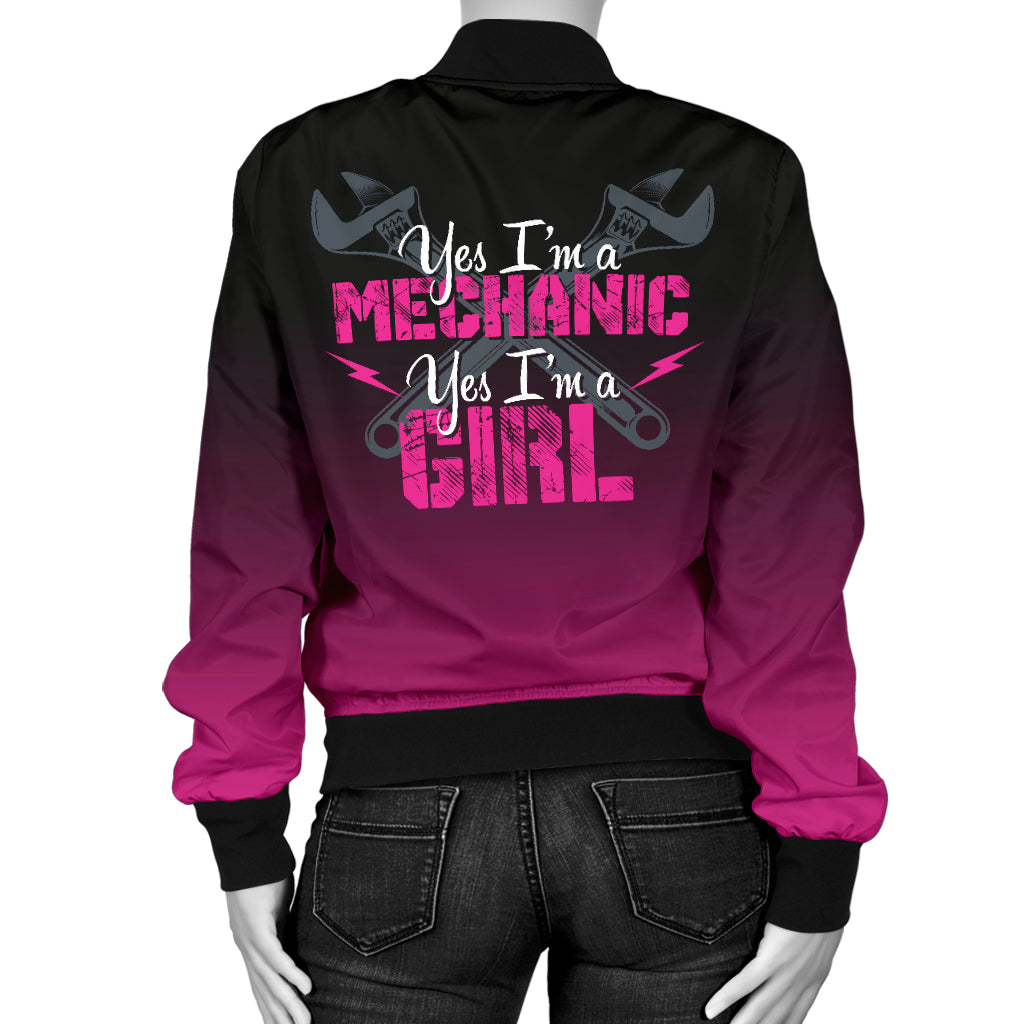 Mechanic Girl Bomber Jacket