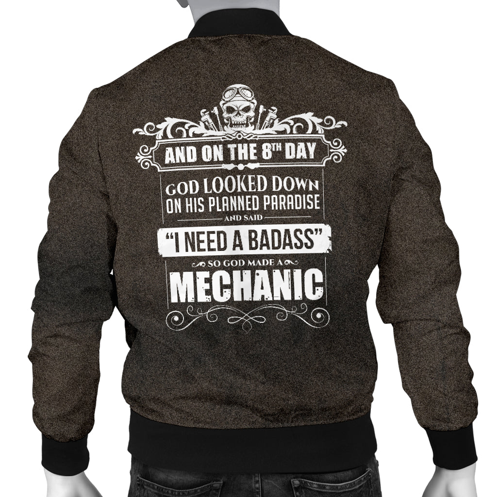 God Made A Mechanic Men's Bomber Jacket