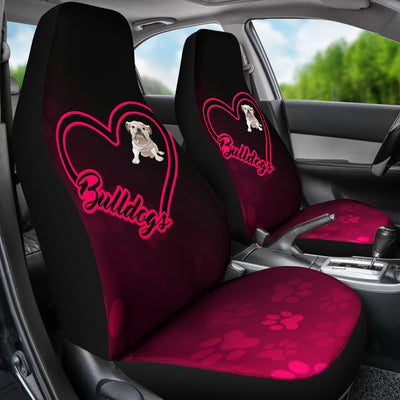 Love Bulldog Car Seat Covers (set of 2) - bulldog bestseller