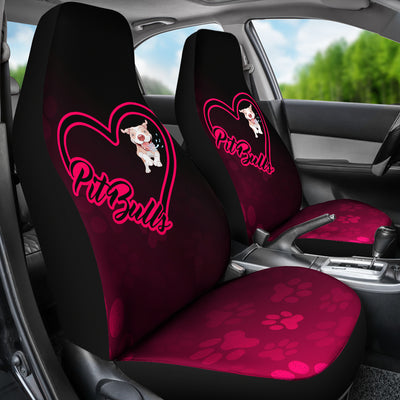 Love Pit Bull Car Seat Covers (set of 2)