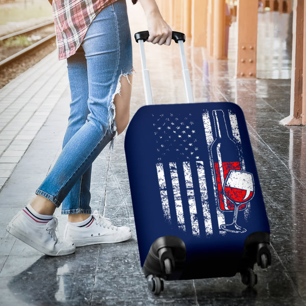 American Wine Luggage Cover
