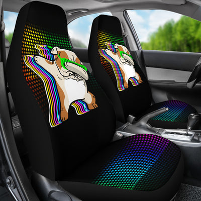 Dancing Bulldog Car Seat Covers (set of 2)