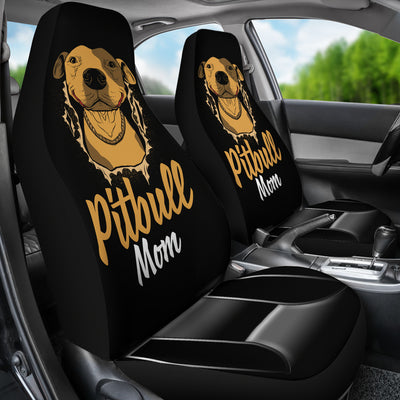 Pitbull Mom Car Seat Cover (set of 2)