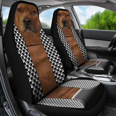 Funny Pitbull Car Seat Covers (set of 2)