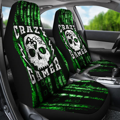 Crazy Gamer Car Seat Covers Set Of 2