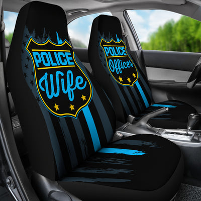 Police Wife & Officer Car Seat Covers (set of 2)