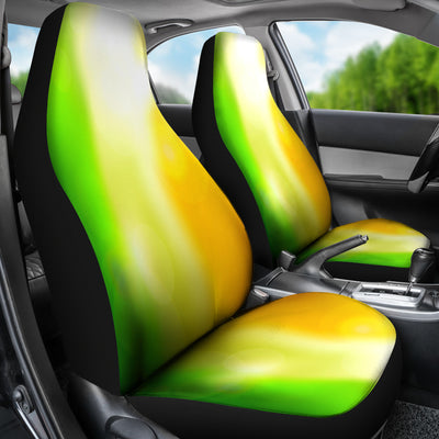 Blurred Irish Flag Car Seat Covers (set of 2)