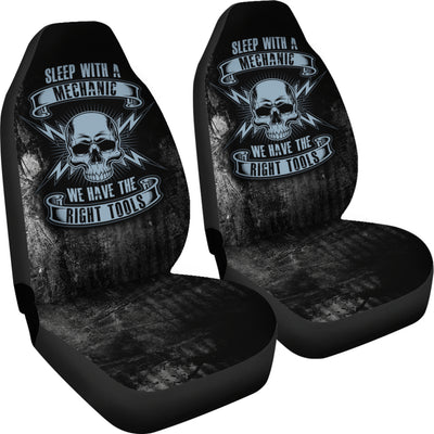 Sleep With A Mechanic Car Seat Covers (set of 2)