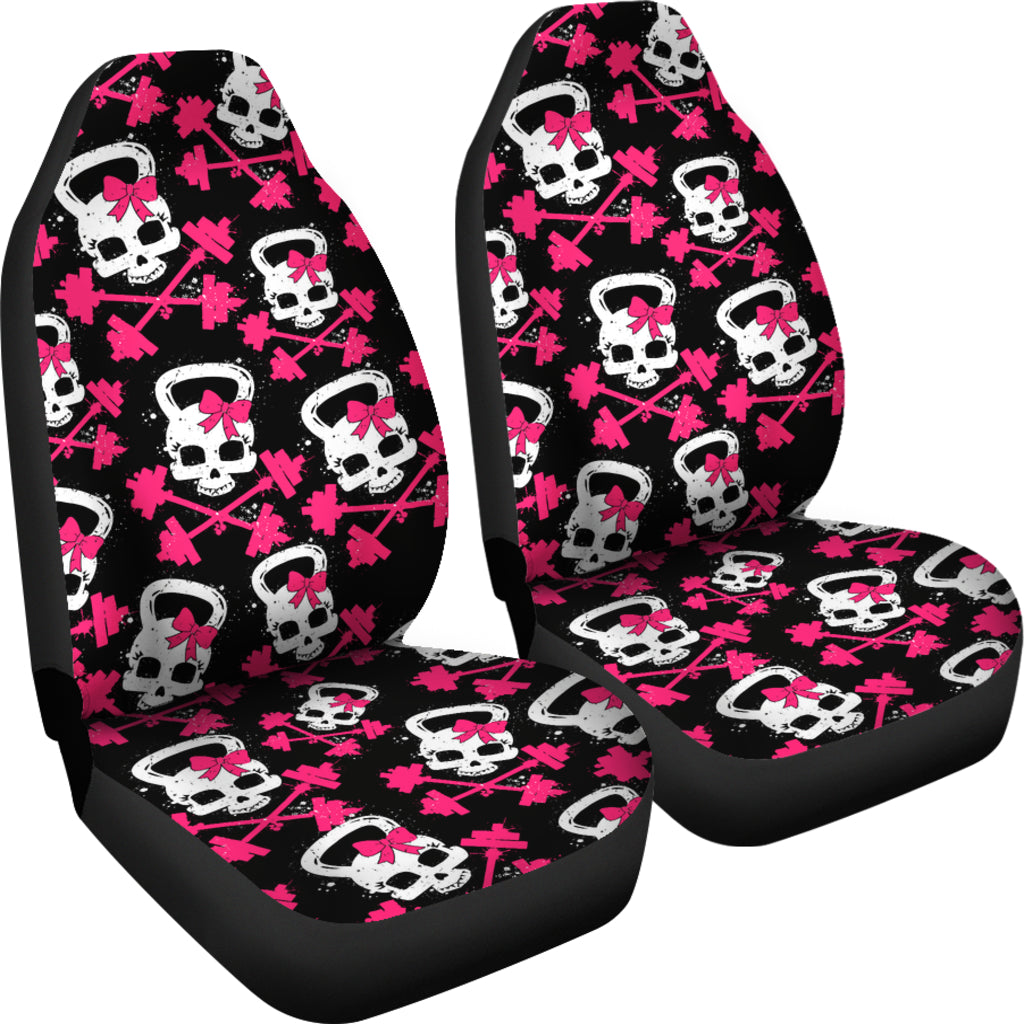 Enjoyable Gym Skull Car Seat Covers Set Of 2 Pdpeps Interior Chair Design Pdpepsorg