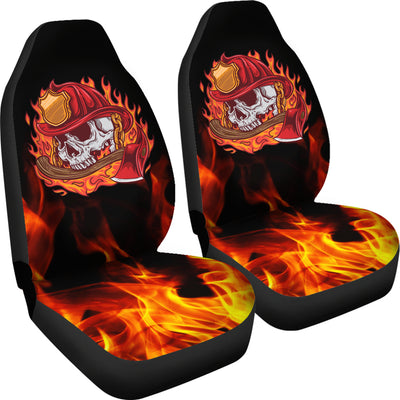 Fire Skull Car Seat Covers (set of 2)