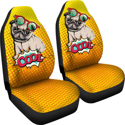 Cool Pug Car Seat Covers (set of 2)