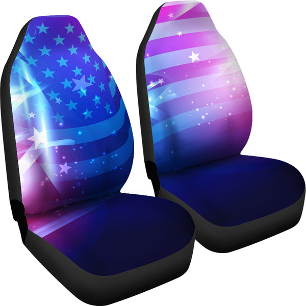 Abstract USA Car Seat Covers