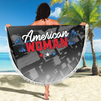 American Woman Beach Blanket