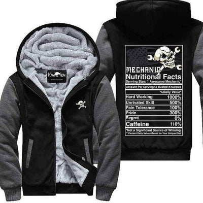 Mechanic Nutritional Facts Jacket