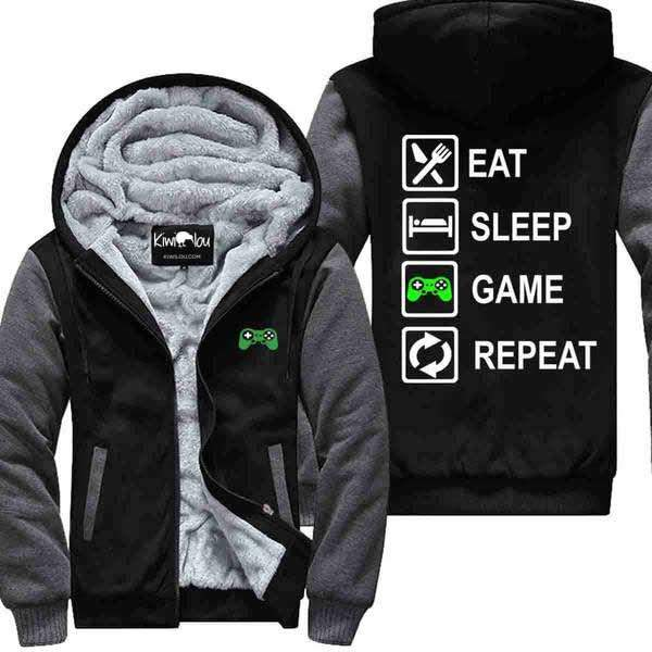 Eat Sleep Game and Repeat - Jacket