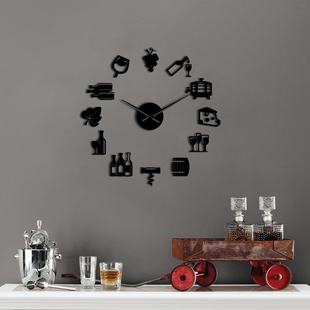 DIY Wine Giant Wall Clock