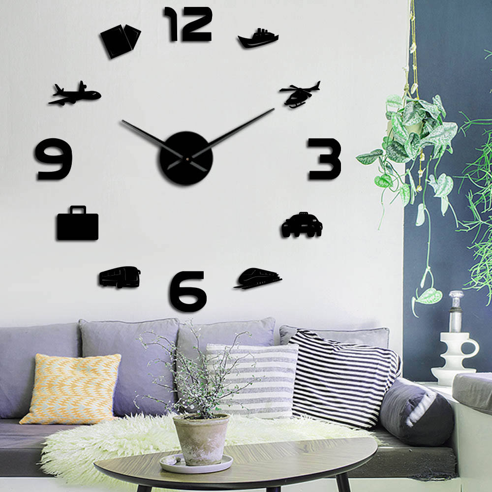 DIY Travel Vehicles Home Wall Clock