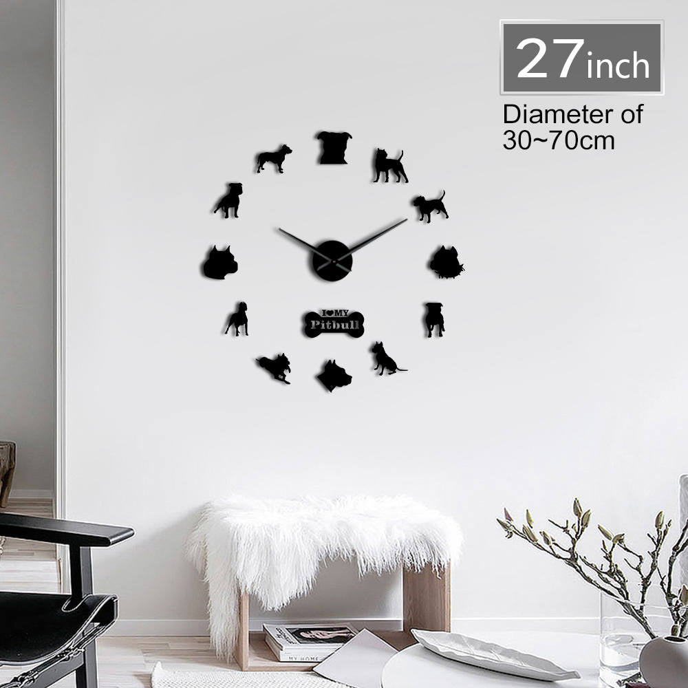 DIY Pitbull Home Wall Clock