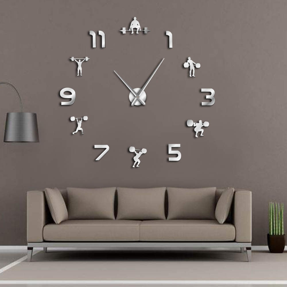 DIY Weightlifting Giant Wall Clock