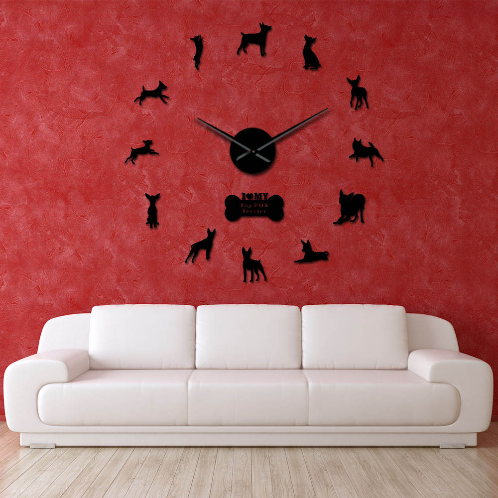 DIY Dog and Fox Home Wall Clock