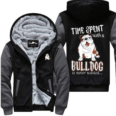 Time Spent With A Bulldog - Jacket - KiwiLou