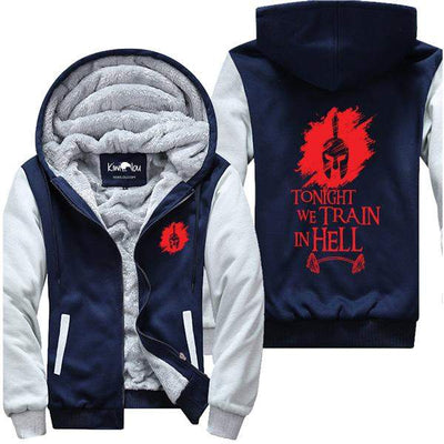 Tonight We Train In Hell (Spartan Barbell) - Gym Jacket
