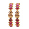 Femmibella Brass Yellow Gold Ruby Temple Bangle Set of 2 for Women