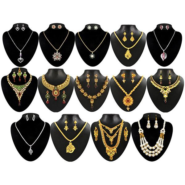 14Fashions Saanvi Jewellery Combo - 1002313-CL