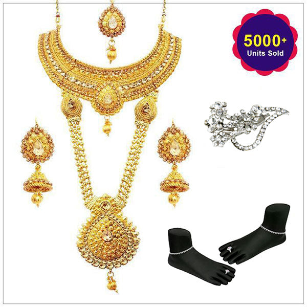 14Fashions Set Of 8 Bridal Jewellery - 1002329-CL