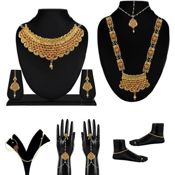 Utkrishtt Set Of 10 Bridal Jewellery Combos