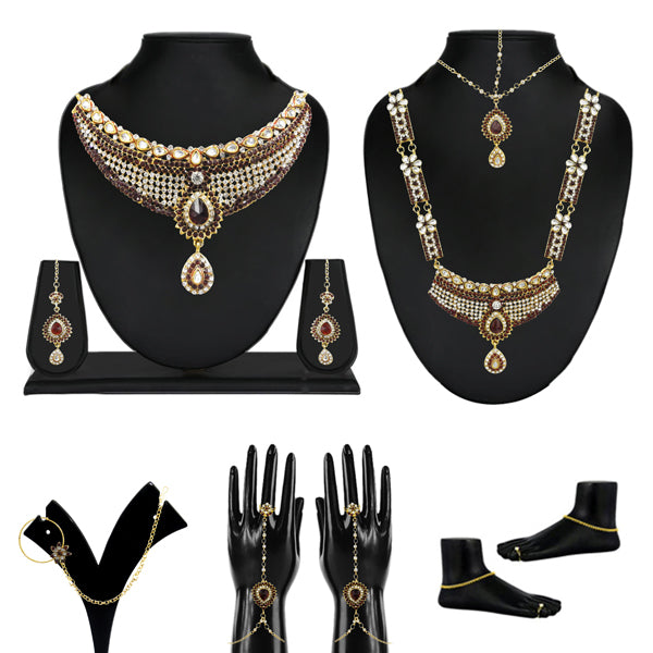 Utkrishtt Set Of 10 Jewellery Bridal