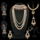 14Fashions Gold Plated Pearl Kundan Bridal Set