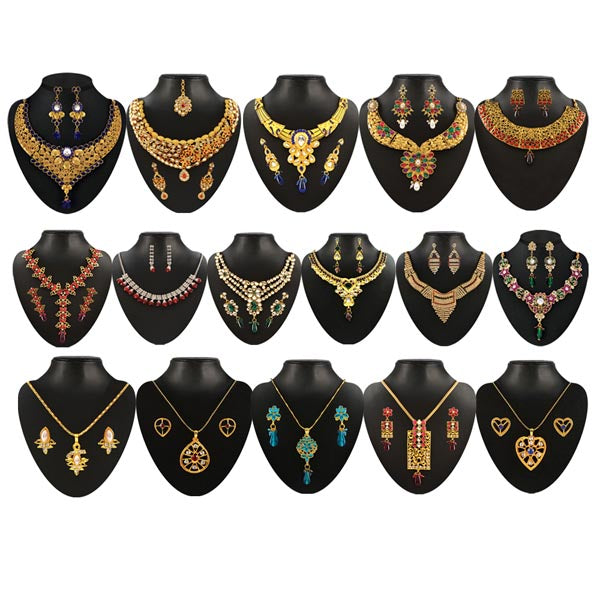 14Fashions Set Of 16 Jewellery Combo - Jewelmaze.com