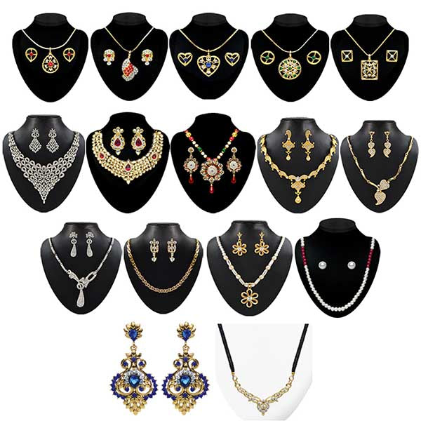 14Fashions Set Of 16 Jewellery Combo