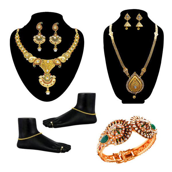 14Fashions Set Of 7 Bridal Jewellery Combos