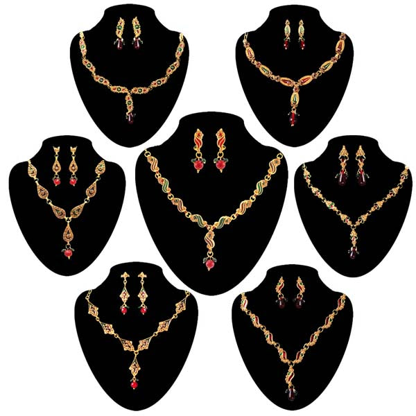 14Fashions  Set Of 7 Necklace Combo