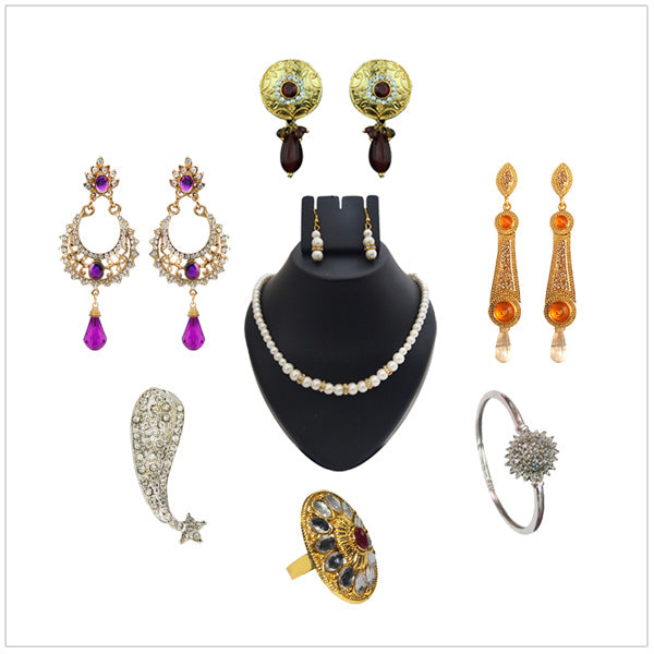 14Fashions Set Of  7 Jewellery Combo