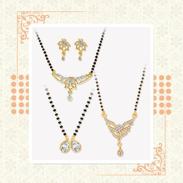 14Fashions Set of 3 Mangalsutra Combo