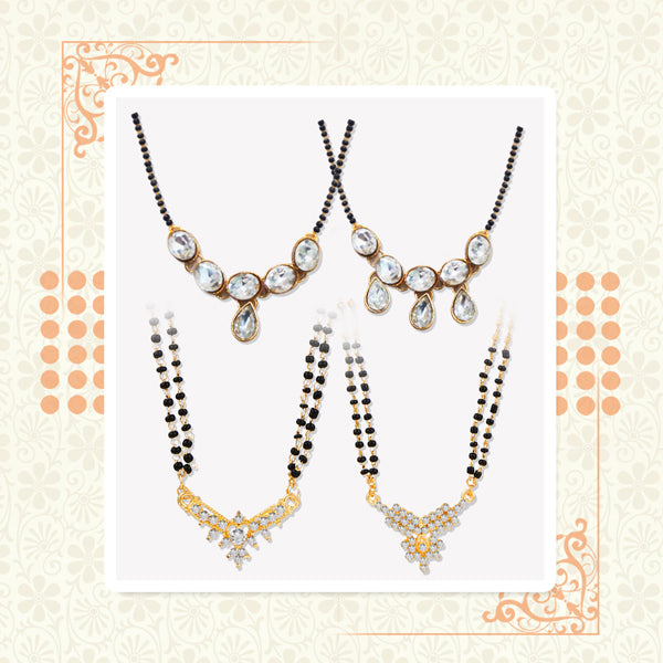 14Fashions Set of 4 Mangalsutra Combo