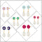 14Fashions Set of 6 Stud Earrings Combo