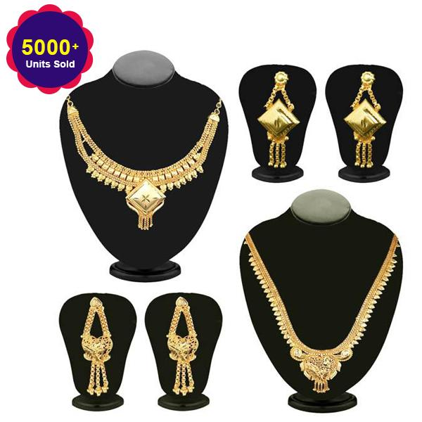 14Fashions Set Of 2 Necklace Combo - 1003221 - Deal