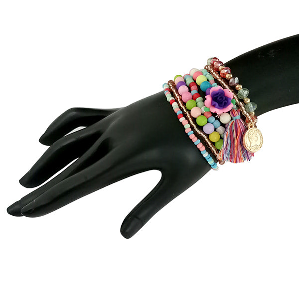 14Fashion Beads Multi Layered Bracelet