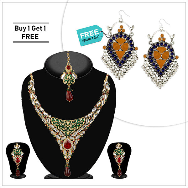 Buy 1 Necklace Set And Get 1 Earrings Free By Kriaa
