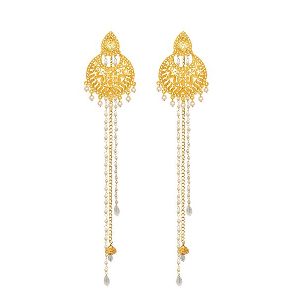 14Fashions Gold Plated Kan Chain Earrings
