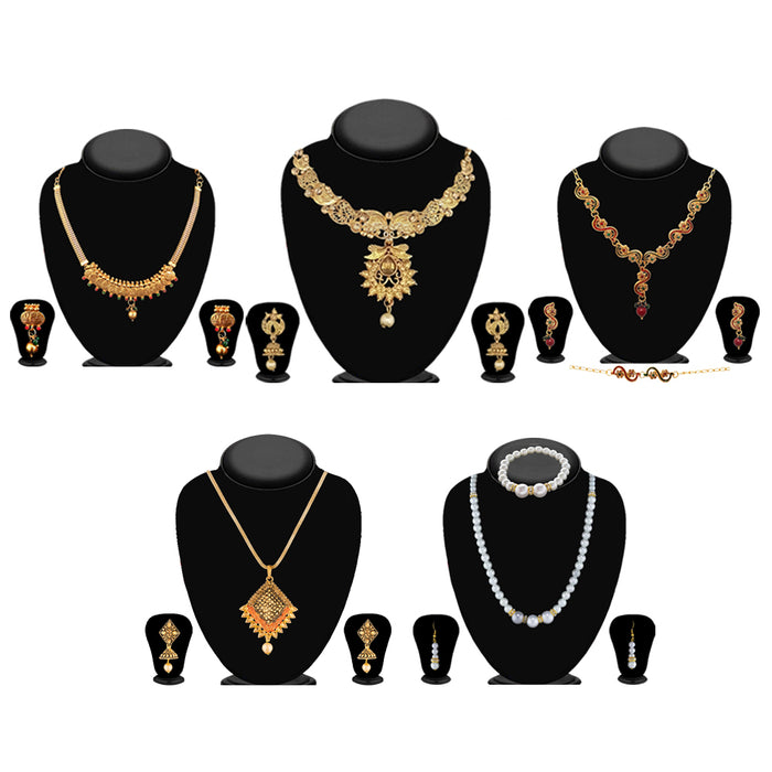 14Fashions Set of 5 Necklace Combo