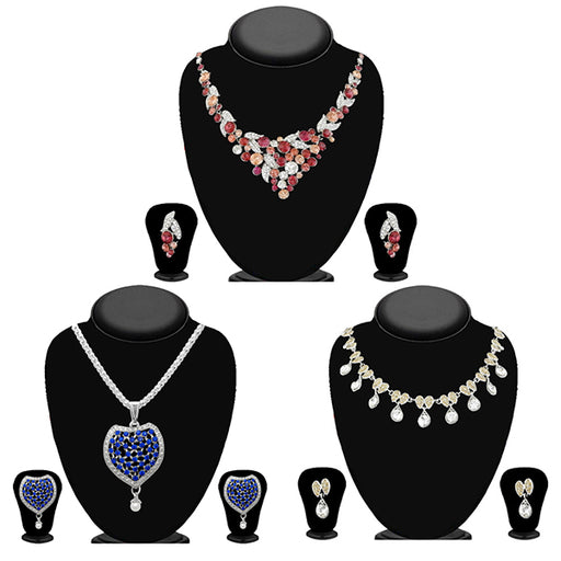 14Fashions Set Of 3 Necklace Combo